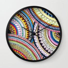Colourful Pattern Mandala Wall Clock