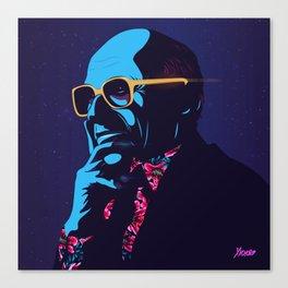 """""""Milton Friedman"""" Portrait Canvas Print"""