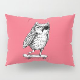 Ride On Owl_pink Pillow Sham