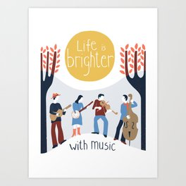 Life with music Art Print
