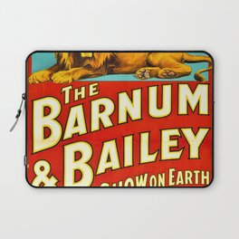 Barnum and Bailey Great Show on Earth - Lion and Tiger Vintage Circus Poster Laptop Sleeve