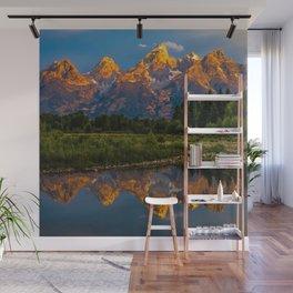Grand Tetons Lake Reflections - Wyoming Wall Mural