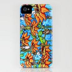 sunflower sock hop iPhone (4, 4s) Slim Case