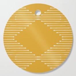 Geo / Yellow Cutting Board