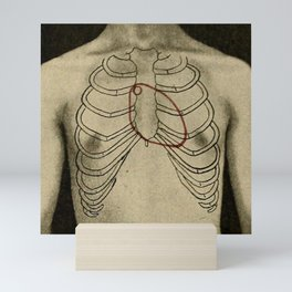 Red heart. Mini Art Print