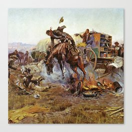 C.M. Russell Cook's Troubles Vintage Western Art Canvas Print
