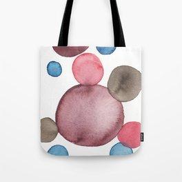 Color Sphere Circle Watercolor Tote Bag