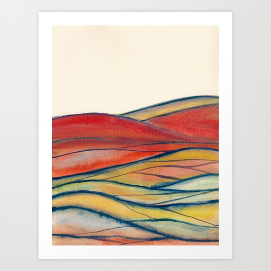Watercolor abstract landscape 28 Art Print