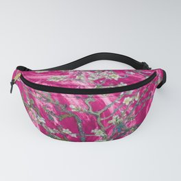 Vincent van Gogh Blossoming Almond Tree (Almond Blossoms) Pink Sunset Fanny Pack