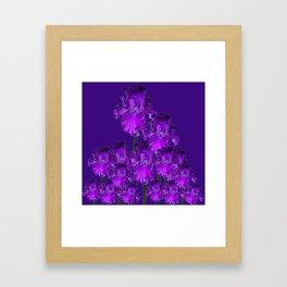 Contemporary Dark Purple Iris Garden Art Framed Art Print