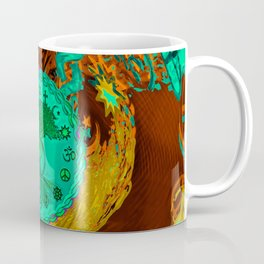 Tree of Life in Yin Yang Hippie Art Coffee Mug
