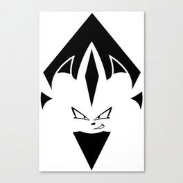 Chaos Nazo Emblem (Black and White) Canvas Print