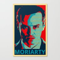 moriarty Canvas Prints featuring MORIARTY by Pop Atelier