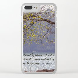 Psalm 1:3 Clear iPhone Case