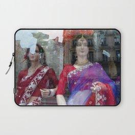 Reflections in a Sari Shop Window, Paris Laptop Sleeve