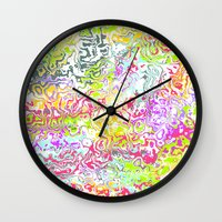 confetti Wall Clocks featuring Confetti by Abstract Designs
