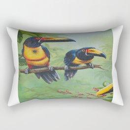 Collared Aracari Rectangular Pillow