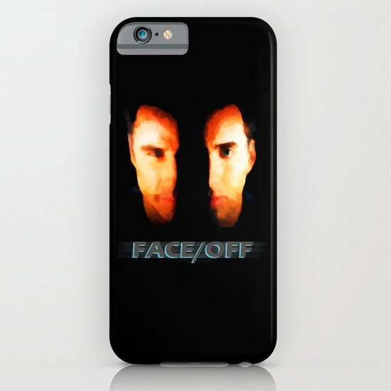 Face Off - Portrait Painting Style iPhone & iPod Case