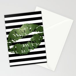 Stripes and Earth Kiss Stationery Cards