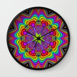 Popping Patterns Kaleidoscope Wall Clock