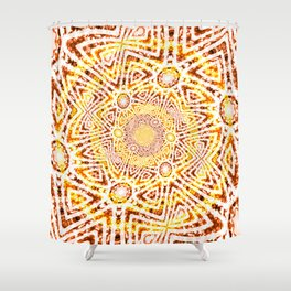 Funky Twisting 3 Shower Curtain
