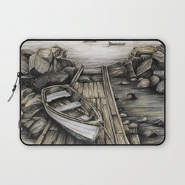 Old Boat on the Dock Laptop Sleeve