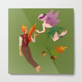A Spring and Fall Faerie Metal Print