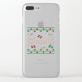 Daddy Christmas Clear iPhone Case