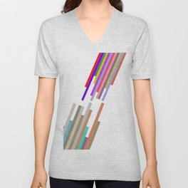 lines and colors Unisex V-Neck
