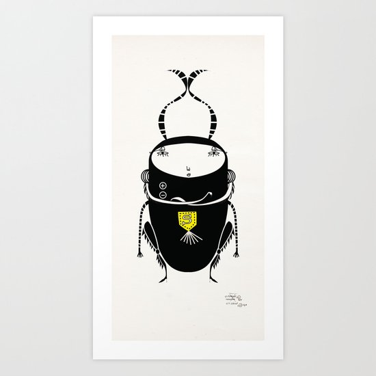 black cricket Art Print