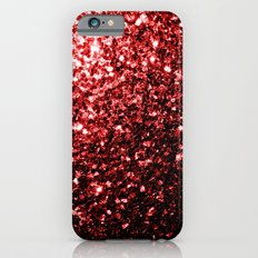 Beautiful Glamour Red Glitter sparkles Slim Case iPhone 6
