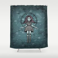 witch Shower Curtains featuring Witch ☾ by A+A Noisome Art