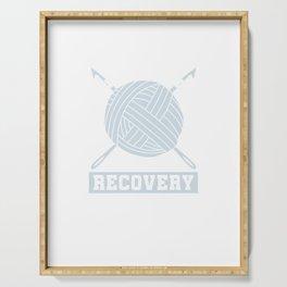 Crocheting Needlecraft Crocheter I'm A Crochetaholic On Recovery Crochet Gift Serving Tray