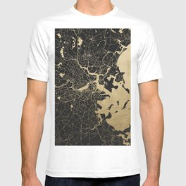 Boston Gold and Black Invert T-shirt