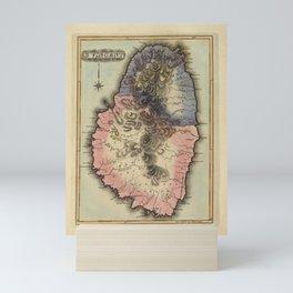 Vintage St Vincent Island Map (1823) Mini Art Print
