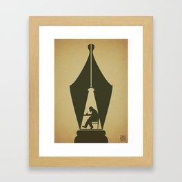 Write Framed Art Print