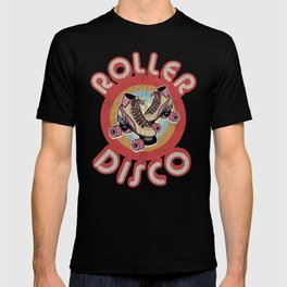 Roller Derby Roller Skates - Red & Pink Retro T-shirt