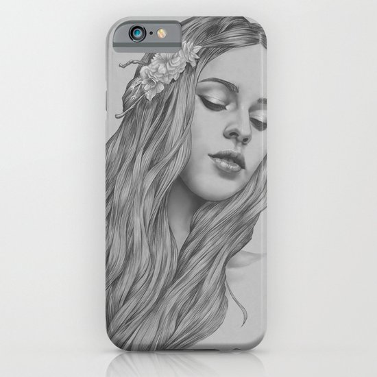 Patience - a digital drawing iPhone & iPod Case