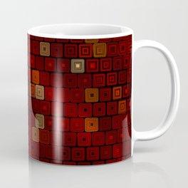 Hand Drawn Red Squares Coffee Mug