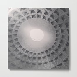 The Pantheon dome, architectural photography, Michael Kenna style, Rome photo Metal Print