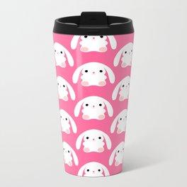 Mei the Strawberry Rabbit Metal Travel Mug