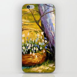 Basket of snowdrops iPhone Skin