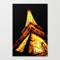 eiffel tower Canvas Prints featuring Eiffel Tower by Fimbis
