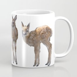 whitetail deer fawns watercolor painting Coffee Mug