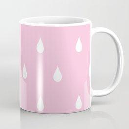Rain drops through pink glasses Coffee Mug