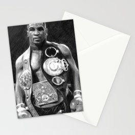Mike Tyson Pencil Drawing Stationery Cards