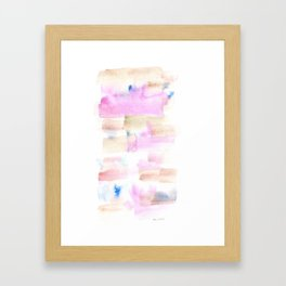 170527 Back to Basic Pastel Watercolour 20  |Modern Watercolor Art | Abstract Watercolors Framed Art Print