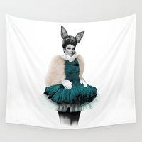 bunny Wall Tapestries featuring Bunny  by BeckiBoos