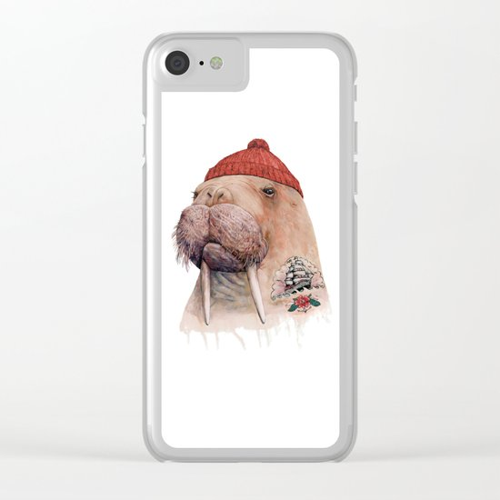 Tattooed walrus Clear iPhone Case