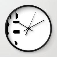 random Wall Clocks featuring random by Invisible Rush